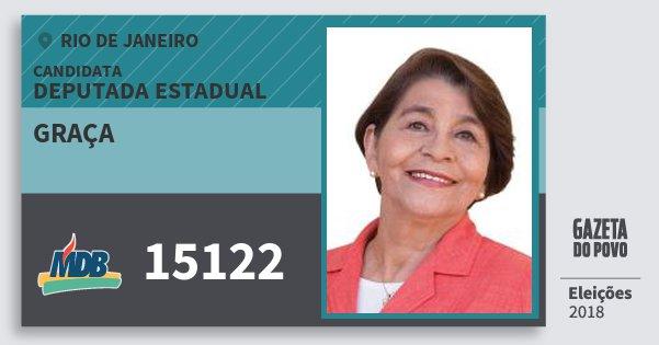 Santinho Graça 15122 (MDB) Deputada Estadual | Rio de Janeiro | Eleições 2018