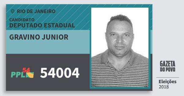 Santinho Gravino Junior 54004 (PPL) Deputado Estadual | Rio de Janeiro | Eleições 2018