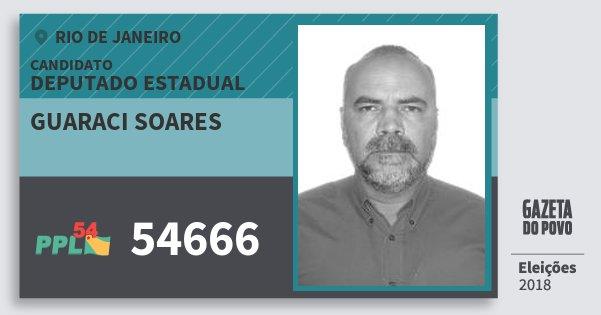 Santinho Guaraci Soares 54666 (PPL) Deputado Estadual | Rio de Janeiro | Eleições 2018
