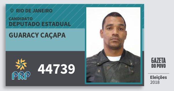 Santinho Guaracy Caçapa 44739 (PRP) Deputado Estadual | Rio de Janeiro | Eleições 2018