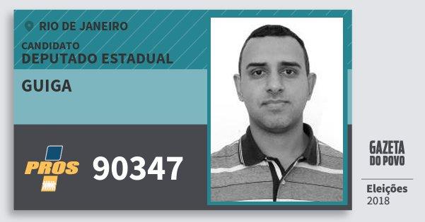 Santinho Guiga 90347 (PROS) Deputado Estadual | Rio de Janeiro | Eleições 2018