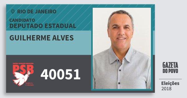 Santinho Guilherme Alves 40051 (PSB) Deputado Estadual | Rio de Janeiro | Eleições 2018