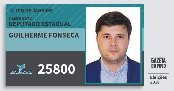 Santinho Guilherme Fonseca 25800 (DEM) Deputado Estadual | Rio de Janeiro | Eleições 2018