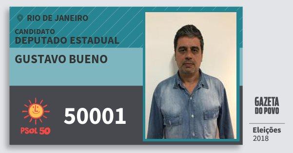 Santinho Gustavo Bueno 50001 (PSOL) Deputado Estadual | Rio de Janeiro | Eleições 2018