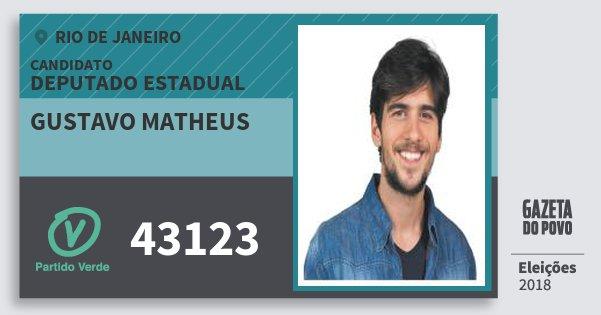 Santinho Gustavo Matheus 43123 (PV) Deputado Estadual | Rio de Janeiro | Eleições 2018