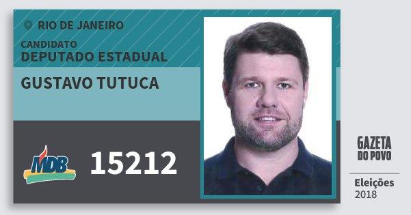 Santinho Gustavo Tutuca 15212 (MDB) Deputado Estadual | Rio de Janeiro | Eleições 2018