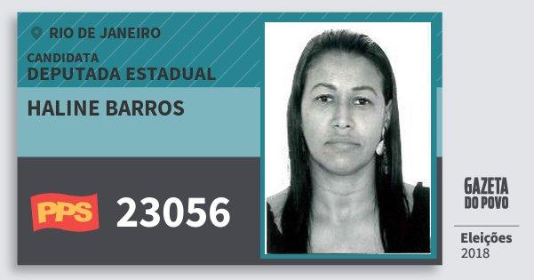 Santinho Haline Barros 23056 (PPS) Deputada Estadual | Rio de Janeiro | Eleições 2018