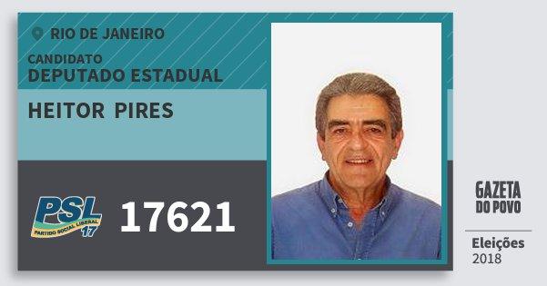 Santinho Heitor  Pires 17621 (PSL) Deputado Estadual | Rio de Janeiro | Eleições 2018