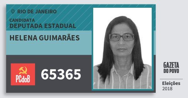 Santinho Helena Guimarães 65365 (PC do B) Deputada Estadual | Rio de Janeiro | Eleições 2018