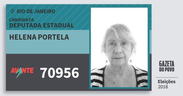 Santinho Helena Portela 70956 (AVANTE) Deputada Estadual | Rio de Janeiro | Eleições 2018