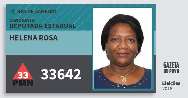 Santinho Helena Rosa 33642 (PMN) Deputada Estadual | Rio de Janeiro | Eleições 2018