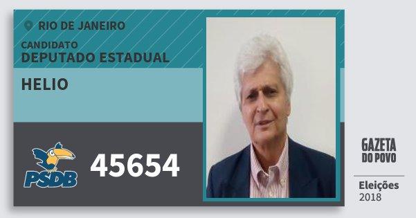 Santinho Helio 45654 (PSDB) Deputado Estadual | Rio de Janeiro | Eleições 2018
