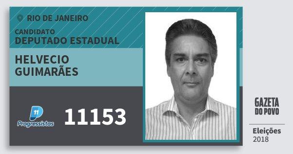 Santinho Helvecio Guimarães 11153 (PP) Deputado Estadual | Rio de Janeiro | Eleições 2018