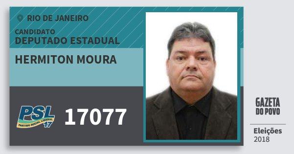 Santinho Hermiton Moura 17077 (PSL) Deputado Estadual | Rio de Janeiro | Eleições 2018