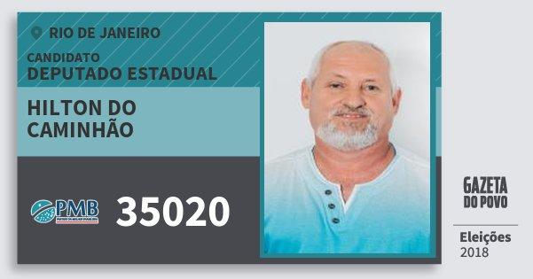 Santinho Hilton do Caminhão 35020 (PMB) Deputado Estadual | Rio de Janeiro | Eleições 2018