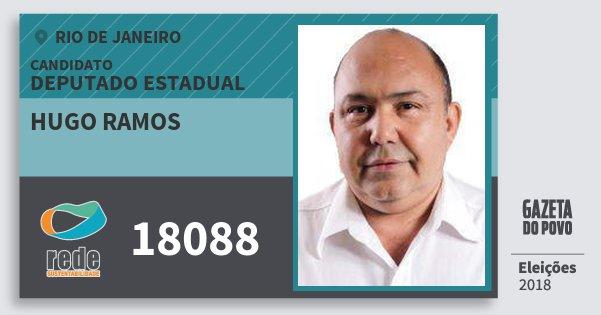 Santinho Hugo Ramos 18088 (REDE) Deputado Estadual | Rio de Janeiro | Eleições 2018
