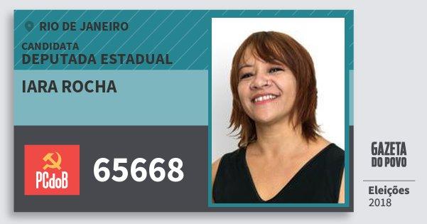 Santinho Iara Rocha 65668 (PC do B) Deputada Estadual | Rio de Janeiro | Eleições 2018