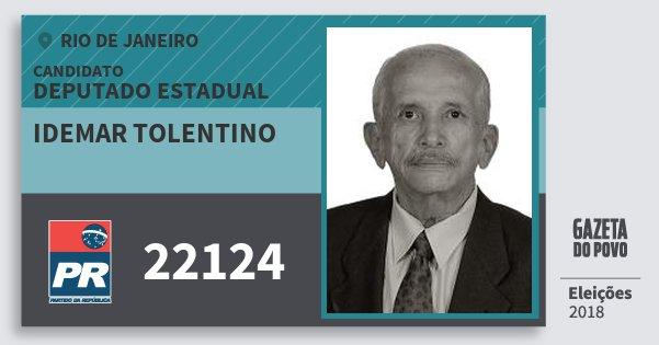 Santinho Idemar Tolentino 22124 (PR) Deputado Estadual | Rio de Janeiro | Eleições 2018