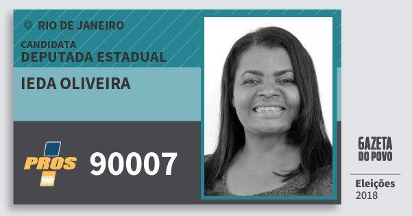Santinho Ieda Oliveira 90007 (PROS) Deputada Estadual | Rio de Janeiro | Eleições 2018