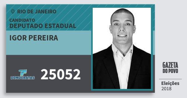 Santinho Igor Pereira 25052 (DEM) Deputado Estadual | Rio de Janeiro | Eleições 2018