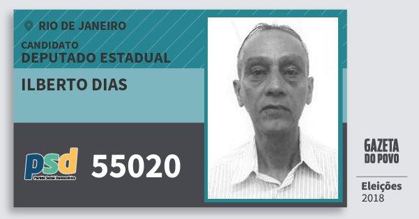 Santinho Ilberto Dias 55020 (PSD) Deputado Estadual | Rio de Janeiro | Eleições 2018