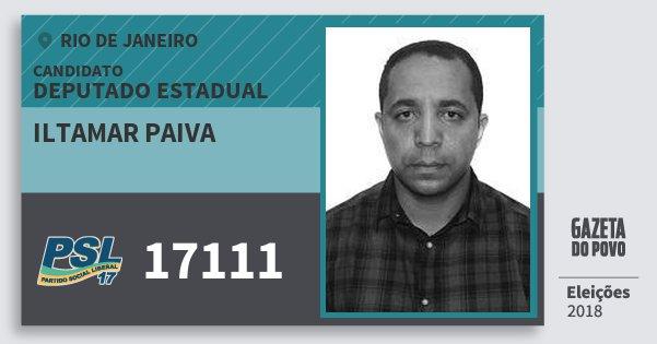 Santinho Iltamar Paiva 17111 (PSL) Deputado Estadual | Rio de Janeiro | Eleições 2018