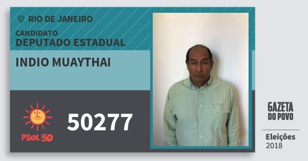 Santinho Indio Muaythai 50277 (PSOL) Deputado Estadual | Rio de Janeiro | Eleições 2018