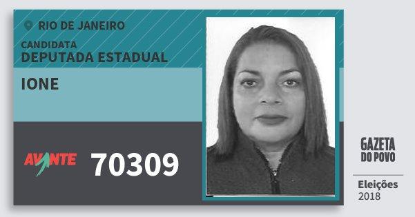 Santinho Ione 70309 (AVANTE) Deputada Estadual | Rio de Janeiro | Eleições 2018