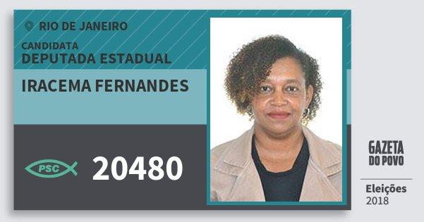 Santinho Iracema Fernandes 20480 (PSC) Deputada Estadual | Rio de Janeiro | Eleições 2018