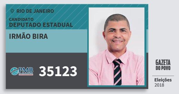 Santinho Irmão Bira 35123 (PMB) Deputado Estadual | Rio de Janeiro | Eleições 2018