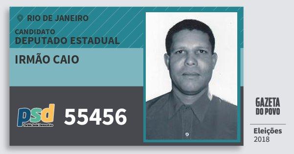 Santinho Irmão Caio 55456 (PSD) Deputado Estadual | Rio de Janeiro | Eleições 2018
