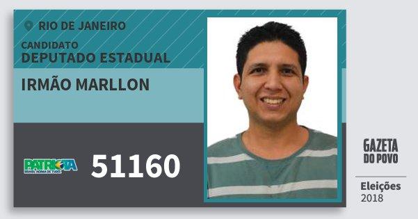 Santinho Irmão Marllon 51160 (PATRI) Deputado Estadual | Rio de Janeiro | Eleições 2018