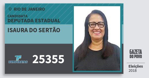 Santinho Isaura do Sertão 25355 (DEM) Deputada Estadual | Rio de Janeiro | Eleições 2018
