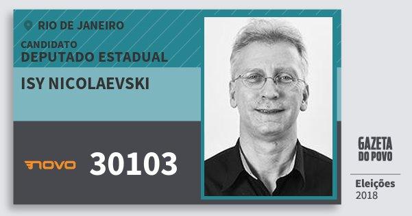 Santinho Isy Nicolaevski 30103 (NOVO) Deputado Estadual | Rio de Janeiro | Eleições 2018