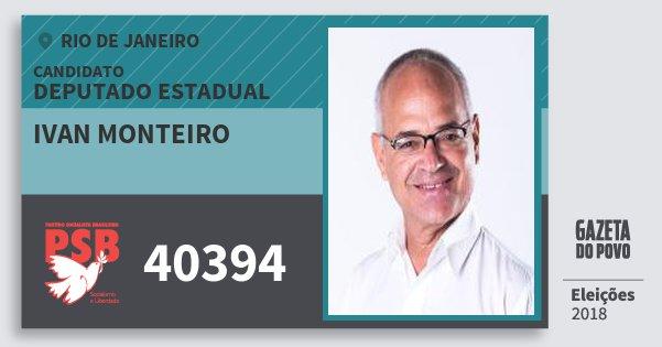 Santinho Ivan Monteiro 40394 (PSB) Deputado Estadual | Rio de Janeiro | Eleições 2018