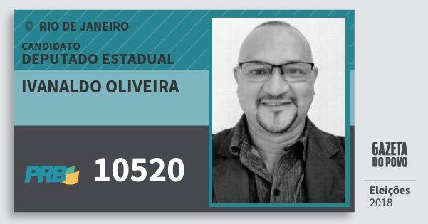 Santinho Ivanaldo Oliveira 10520 (PRB) Deputado Estadual | Rio de Janeiro | Eleições 2018