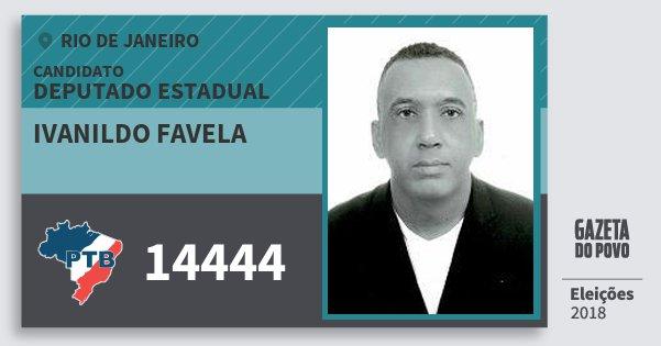 Santinho Ivanildo Favela 14444 (PTB) Deputado Estadual | Rio de Janeiro | Eleições 2018