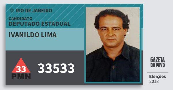 Santinho Ivanildo Lima 33533 (PMN) Deputado Estadual | Rio de Janeiro | Eleições 2018