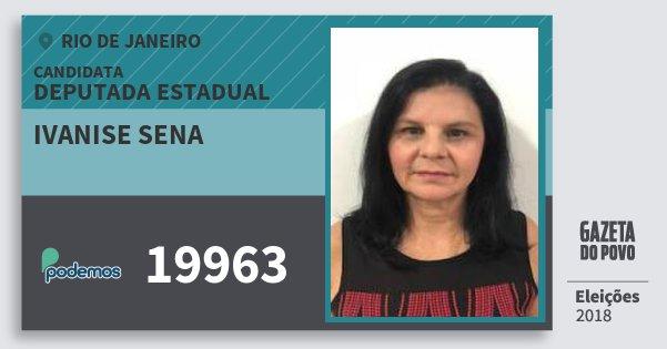 Santinho Ivanise Sena 19963 (PODE) Deputada Estadual | Rio de Janeiro | Eleições 2018