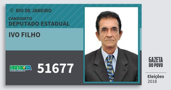 Santinho Ivo Filho 51677 (PATRI) Deputado Estadual | Rio de Janeiro | Eleições 2018