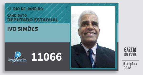 Santinho Ivo Simões 11066 (PP) Deputado Estadual | Rio de Janeiro | Eleições 2018