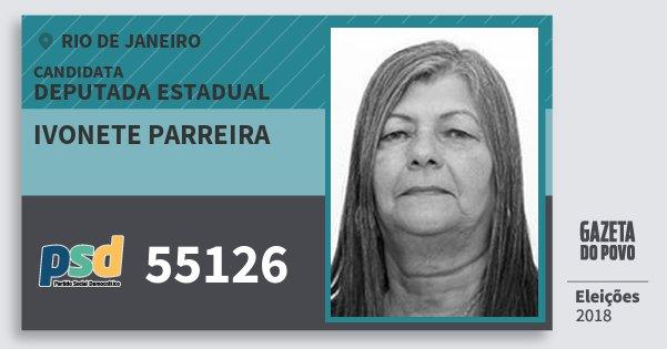 Santinho Ivonete Parreira 55126 (PSD) Deputada Estadual | Rio de Janeiro | Eleições 2018