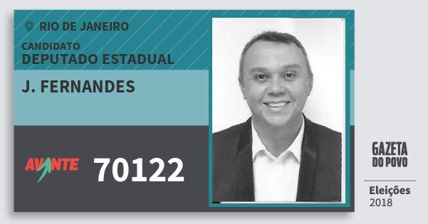 Santinho J. Fernandes 70122 (AVANTE) Deputado Estadual | Rio de Janeiro | Eleições 2018