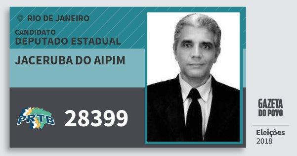 Santinho Jaceruba do Aipim 28399 (PRTB) Deputado Estadual | Rio de Janeiro | Eleições 2018