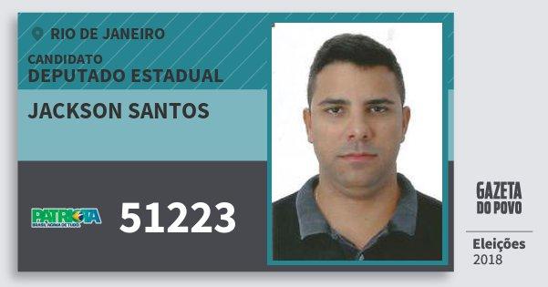 Santinho Jackson Santos 51223 (PATRI) Deputado Estadual | Rio de Janeiro | Eleições 2018