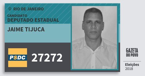 Santinho Jaime Tijuca 27272 (DC) Deputado Estadual | Rio de Janeiro | Eleições 2018
