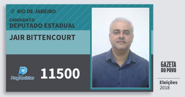 Santinho Jair Bittencourt 11500 (PP) Deputado Estadual | Rio de Janeiro | Eleições 2018