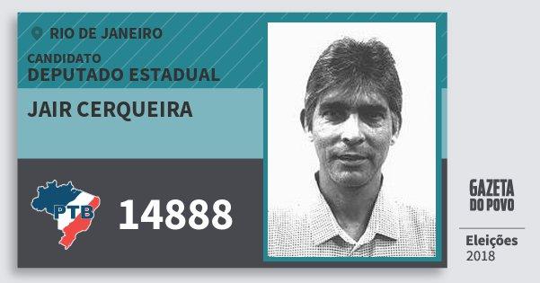 Santinho Jair Cerqueira 14888 (PTB) Deputado Estadual | Rio de Janeiro | Eleições 2018