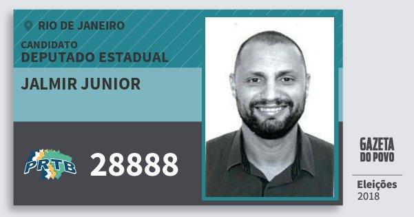 Santinho Jalmir Junior 28888 (PRTB) Deputado Estadual | Rio de Janeiro | Eleições 2018
