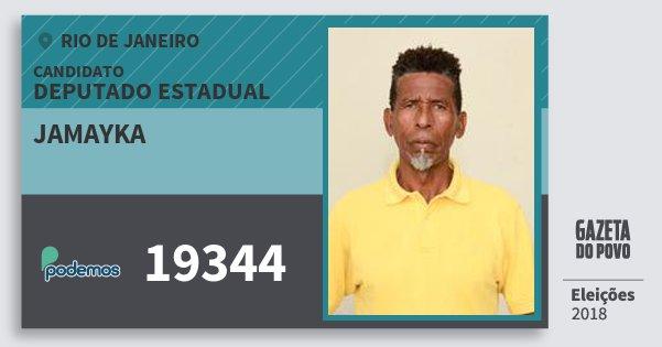 Santinho Jamayka 19344 (PODE) Deputado Estadual | Rio de Janeiro | Eleições 2018